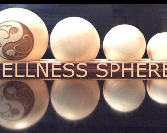 Wellness Spheres, Reflexology, Home Care, Massage Tool, Holistic Health, Foot Care Infused with Essential Oil.