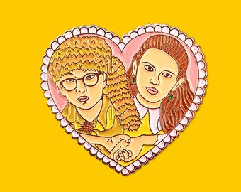 SALE - Sam and Suzy Moonrise Kingdom Inspired - Silver Soft Enamel Pin