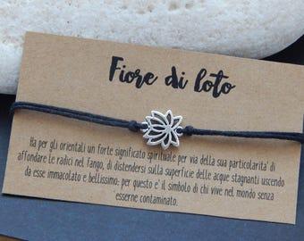 Bracelet with lotus flower shaped Pendant