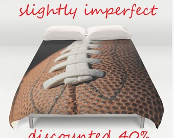 SALE! Football Duvet Cover-IN STOCK! Sports Duvet-Football Bedding-Photo Duvet Cover-Sports Bedroom Decor-Boys Bedding-Full Size Duvet Cover