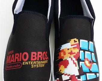 Custom Vans Brand NES Super Mario Bros Canvas Shoes
