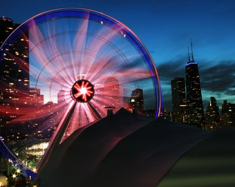 Chicago Ferris Wheel Spiral Print