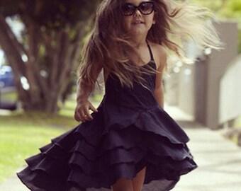 Girls Flamenco Birthday Party Dress in Black