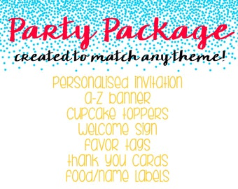 ESSENTIAL PARTY PRINTABLES Package - Any theme - Discount- Great Deal!