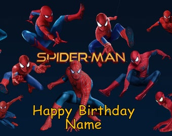 Spiderman Homecoming Edible Image Cake Topper Personalized Birthday Party 1/4 Sheet