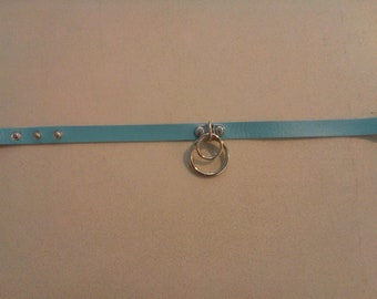 Light Blue Collar Necklace with Double O rings 249957