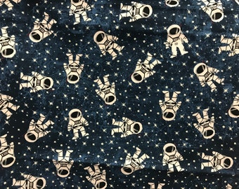 Astronaut,  planets, Earth, outer space, solar system fabric, galaxy fabric, stars fabric, nebula fabric, milky way fabric