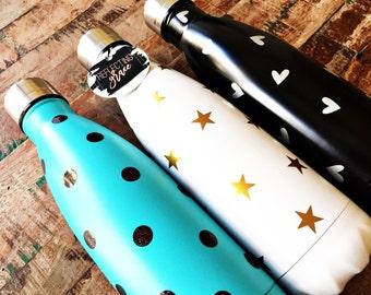 Like a Yeti Water Bottle|Like A Swell Water Bottle|Monogrammed Water Bottle|Polka Dot Water Bottle|Personalized Kids' Water Bottle|Birthday