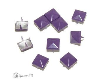 20 9mm purple claw rivet customisation M00327 pyramid studs