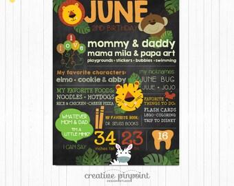Jungle 1st Birthday, Safari Theme Party, Jungle Chalkboard, Jungle Party Decor, Safari Party Decor, Safari Birthday, Jungle Invite