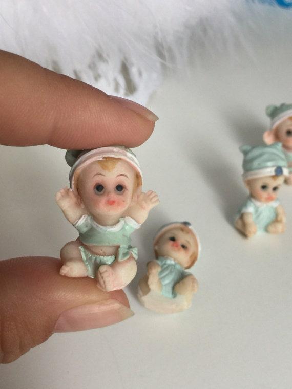 Miniature Figurines, Baby Shower Decor, Ministure Baby Doll, Baby Shower  Craft Doll, Baby Boy Miniature Figurine, Baby Boy Shower Favors From ...