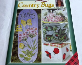 One Stroke, Country Bugs, by Donna Dewberry, Decorative Painting 9713, FAST-n-FREE US Shipping, BC3