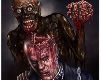 Return Of The Living Dead (More Brains) - A3 Print