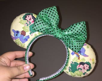 Hulaing lilo and stitch mouse ears
