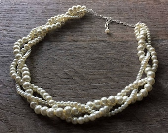 Ivory Pearl Necklace, Gift for Her, Gift For Wife, Gift for Girlfriend, Gift for Fiance, Gift for Mom on Silver or Gold Chain