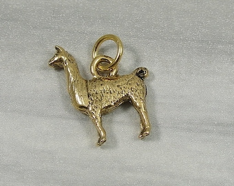 Llama Charm - Gold Plated Llama Charm for Necklace or Bracelet