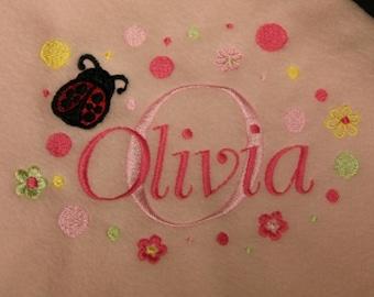 Personalized Baby Fleece Blanket for Girl