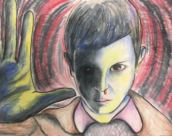 Stranger Things eleven drawing