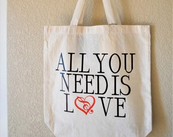 Everyday Tote Bag- All You Need is Love