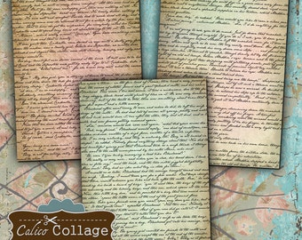 Printable, Fairy Tale Pages, Collage Sheet, Digital Download, Fairytale, Vintage Book page, Printable Pages, Decoupage Paper, Journal Spots