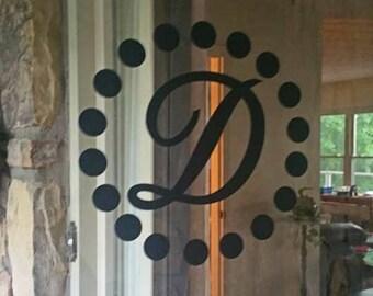 Front Door Decoration - Monogram Door Decal - Monogram Front Door - Vinyl Art Decal - & Door cling   Etsy