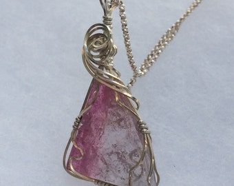Maine Tourmaline Pink and Lavender Pendant