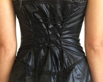 Vintage 1990s Betsey Johnson Ripstop Corset Dress Size S