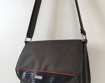Delsey canvas shoulder bag gray