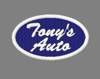 Custom Oval Name Patches - for you to personalize.