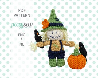 Mini scarecrow, amigurumi crochet pattern