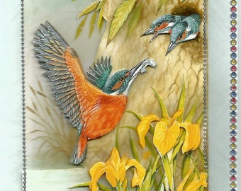 Animals, 3d card, made category birds - birthday, thank you, get well, retirement, mother's day, flowers