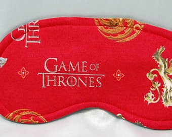 Game of Thrones red cotton print sleep mask