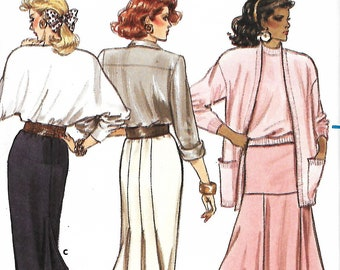Butterick 5909 Misses/Miss Petite Very Easy Skirt Sewing Pattern, Size 8-12, UNCUT