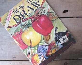 How To Draw by Walter Foster Art Book  Learn To Draw Mid Century Art Instruction