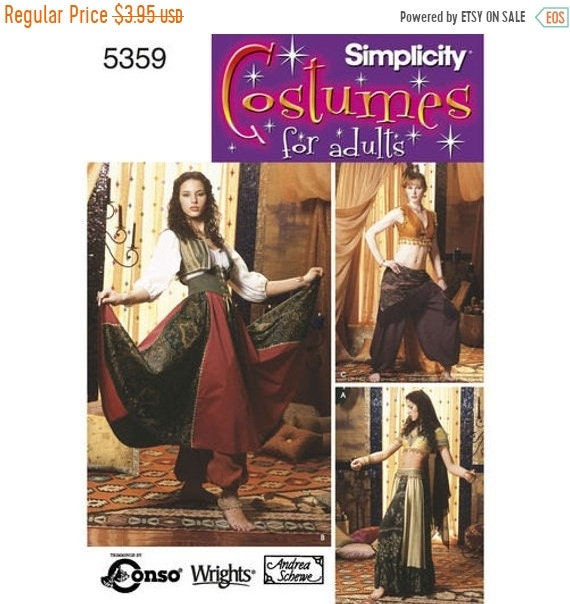 pattern Simplicity Pattern 5359 Misses\' Belly Dancing Costumes ...