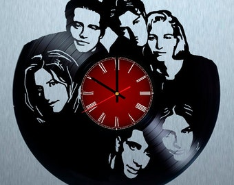 Friends Vinyl Wall Clock, Birthday Gift For Girl, Wall Clock Large, Vinyl Record Wall Clock, Phoebe Wall Clock Vintage