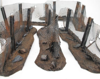 Industrial Wargame scenery, 28mm,  Fencing