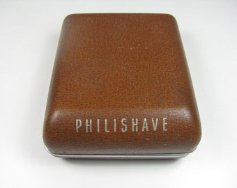 Vintage Philishave Electric Razor Model SC 7759 In Hard Case, Working Condition Made in Holland