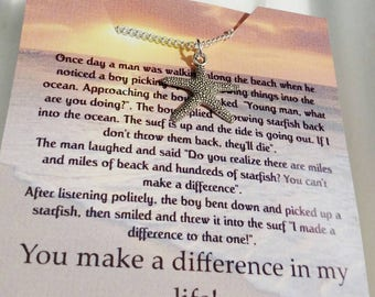 Gift for her  jewelry  birthday gift starfish necklace starfish jewelry