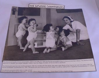 Dionne Quintuplets Souvenir Photograph World Copyright Star Newspaper Service