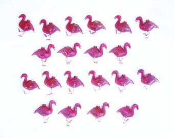 Vintage Plastic Pink Flamingo RV Patio String Garland Lights Retro Home Decor Party Hang Lights
