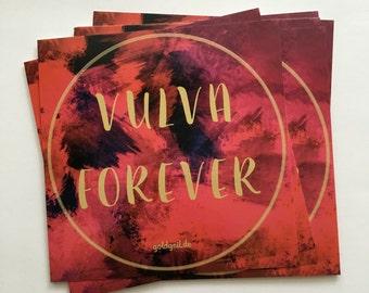 Sale!!! 10 Sticker Vulva-Forever/10 pcs. Sticker