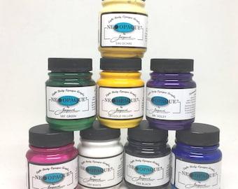 Jacquard Neopaque 8 Colour Starter Pack - High Pigment Opaque Paints - 70ml - Textile Leather Wood