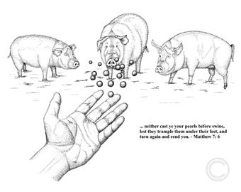 lds, Mormon, christian, bible, new testament, lds art - Pearls Before Swine