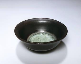 Decorative Bowl, Black Bowl, Crystalline Pottery, Handmade Ceramic Bowl, Stoneware Bowl, Wheel Thrown Bowl