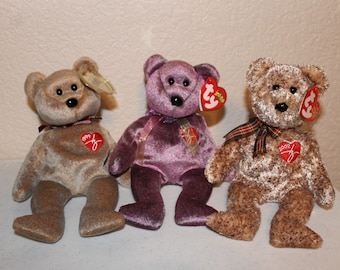 Ty Beanie Babies Siganture Bears Set Of 3