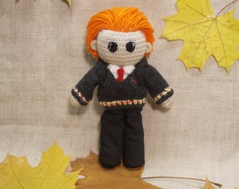 Ron Weasley Crochet Doll Portrait doll Personalized gift  Hogwarts Rowling teenage gift Harry Potter doll Witchcraft Wizardry MADE TO ORDER
