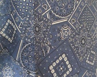 Blue Bandana Fabric - Moda - 15490 24 - Western Fabric - Cowboy