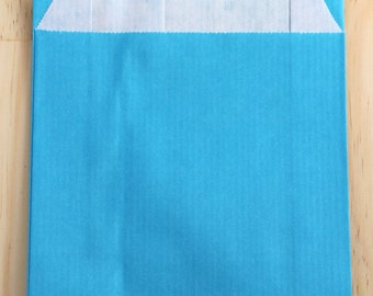 Set of 25 Kraft envelopes 12 x 19 cm turquoise blue, gift package