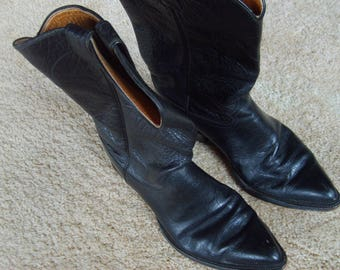 Justin Cowboy Boots, Size 10D, Style 7035, Blalck Boots, Western Boots
